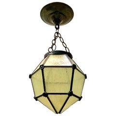 Antique English Leaded Glass Lantern