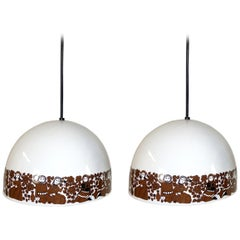 Pair of Enamel Pendants by Kay Franck & Esteri Tomula for Wartsila