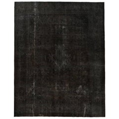 Vintage Distressed Overdyed Persian Rug
