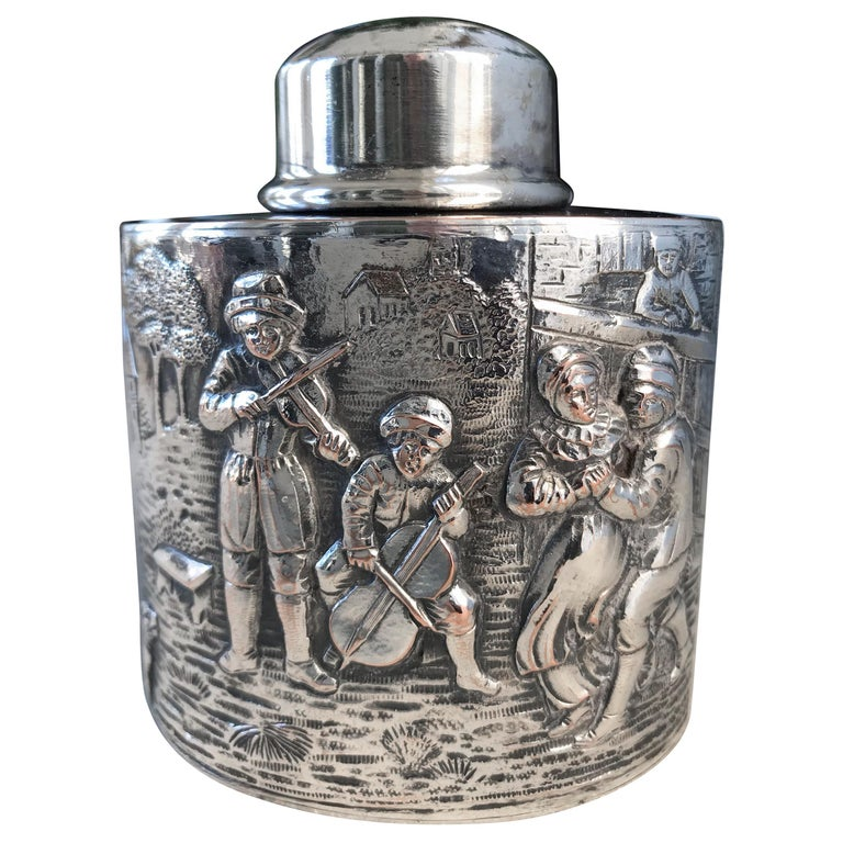 Silver Tea Caddy For Sale