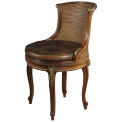 Gilt Bronze-Mounted Mahogany Desk Chair by François Linke, circa 1910