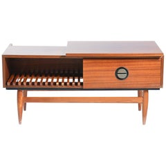 Midcentury Sideboard in Mahogany and Brass, Czechoslovakia