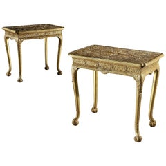 Pair of 18th Century George I Gilt Gesso Tables Attributed to Elizabeth Gumley