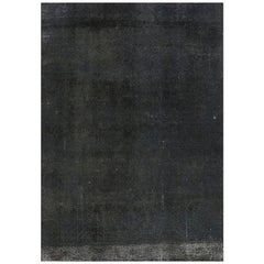 Vintage Distressed Overdyed Persian Area Rug