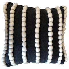 """Lido"" Wool and  Dark Grey  Pillow by Le Lampade"