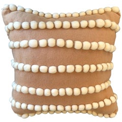 """""""Lido"""" Beige Wool and Cashmere Pillow"""