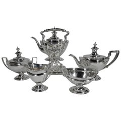 Antique Tiffany Neoclassical Sterling Silver Tea Set