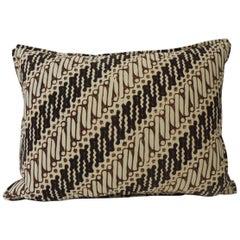Vintage Brown and Black Batik Decorative Bolsters Pillow