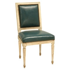Louis XVI Style Side Chairs, Hand-carved, Choice of Finishes, Armchair Available