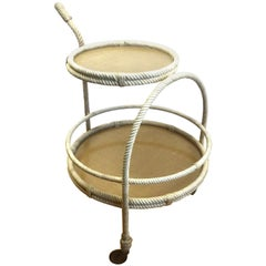 Audoux Minet Rope Drinks Trolley, 1960s