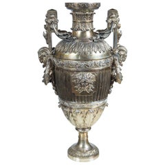 Probably Russian Silver Plated Bronze Urn
