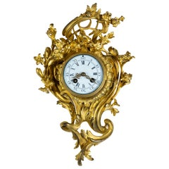 Gilt Bronze Rococo Cartel or Wall Clock