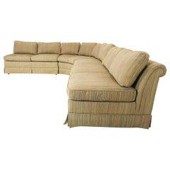 Three-Piece Midcentury Slipper Sofa by Baker
