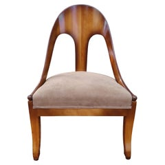 Wonderful Michael Taylor for Baker Spoon Back Neoclassical Chair, Midcentury
