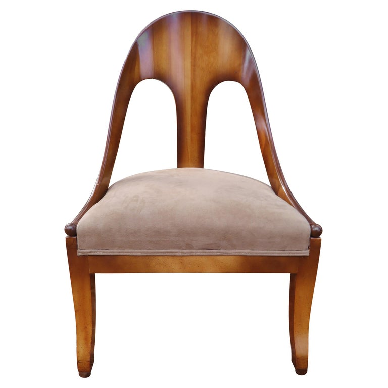 Wonderful Michael Taylor for Baker Spoon Back Neoclassical Chair, Midcentury For Sale
