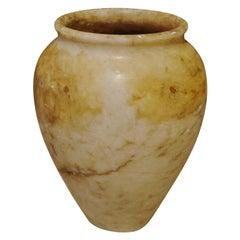 19th Century Alabaster Vase, Cambodia