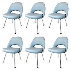 Set of Six Saarinen Executive Chairs for Knoll