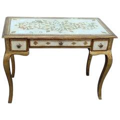 Vintage Florentine Distressed Painted Writing Desk