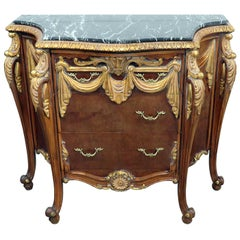 Empire Style Marble Top Commode