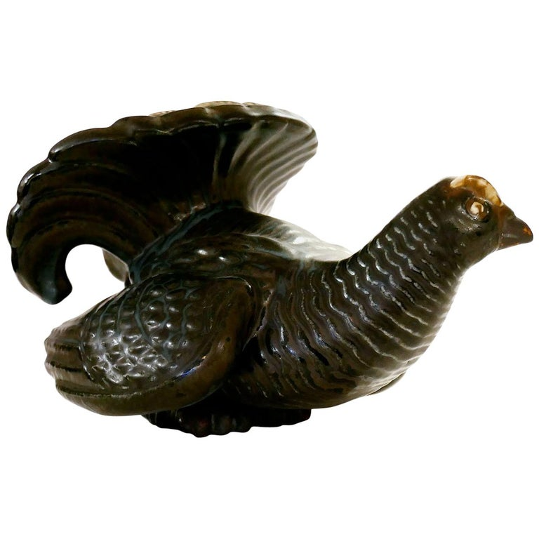 Gunnar Nylund Stoneware Figure of a Grouse, Rörstrand For Sale