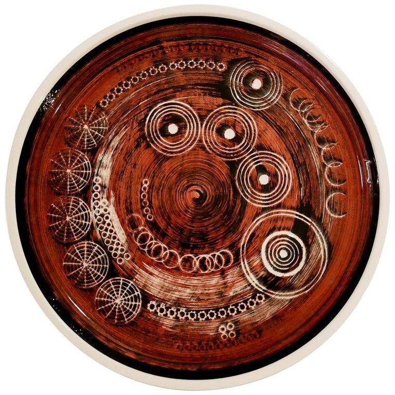 Ceramic Plate 'Sarek', Design Olle Alberius for Rörstrand For Sale
