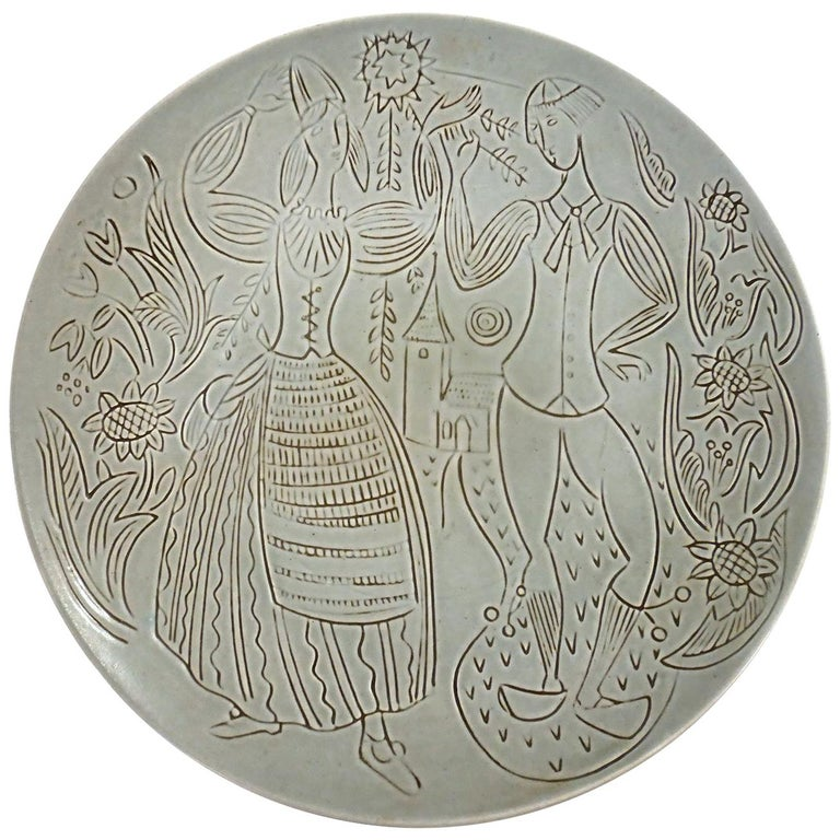 Ceramic Wall Plate, Design Carl-Harry Stålhane for Rörstrand For Sale