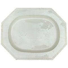 19th Century Continental Creamware Platter, circa 1850s