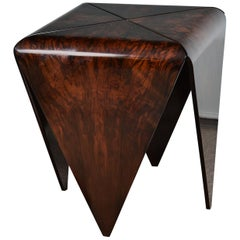 Pair of Midcentury Brazilian Side Tables in Walnut Done by Jeorge Salszupin