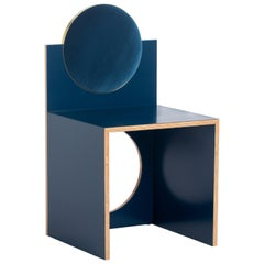 Void Chair in Indigo from the Qualia Collection by Azadeh Shladovsky
