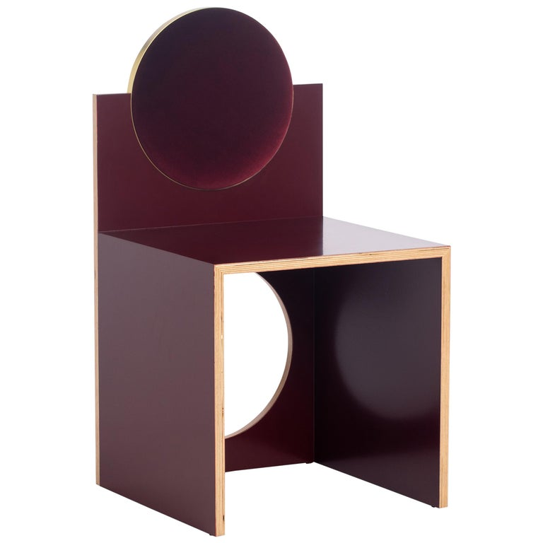 Void Chair in Bourdeaux from the Qualia Collection by Azadeh Shladovsky For Sale