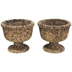 Pair of Biarritz Garden Urns or Planters with Pebble Inlay 'Individually Priced'