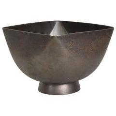 Mid-Century Modern Ward Bennett Patinated Bowl, Brutalist Era