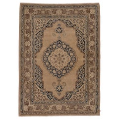 Antique Tabriz Rug, Bookcover Style
