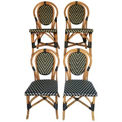 French Style Parisian Cafe Bistro Rattan Dining Chairs