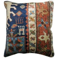 Small Persian Heriz Rug Pillow
