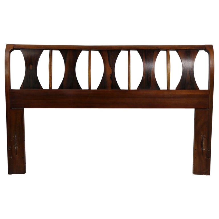 Architectural Mid Century  Headboard Perspecta by Kent Coffey For Sale