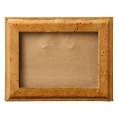 Vintage Venetian Hand-Tooled Leather Picture Frame