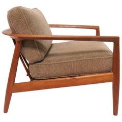 Folke Ohlsson for DUX Danish Modern Teak Lounge Chair, circa 1960s