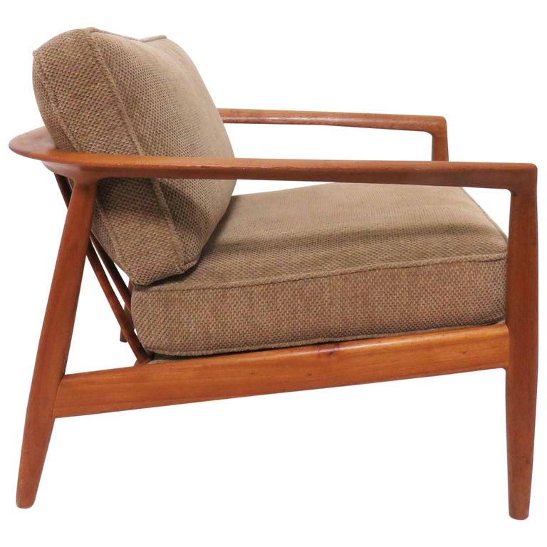Awesome Folke Ohlsson For Dux Danish Modern Teak Lounge Chair Circa Machost Co Dining Chair Design Ideas Machostcouk