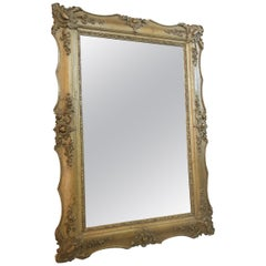 Large Antique Wall Mirror from the Biedermeier Period