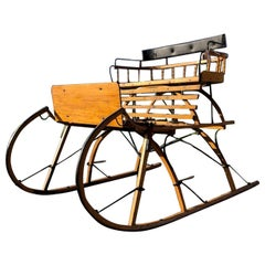 Antique Austrian Snow Sledge from the Salzkammergut