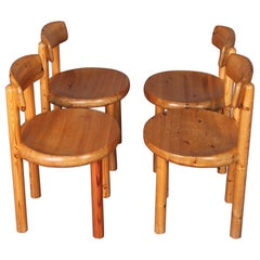 Rainer Daumiller Pine Wood Dining Chair Set of 4