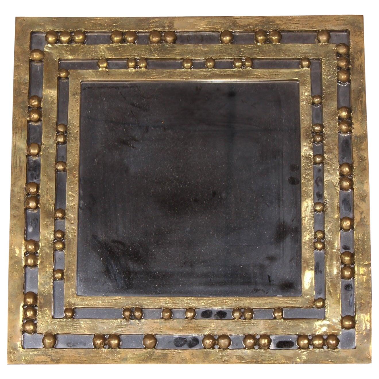 Bronze Square  Luciano Frigerio Mirror