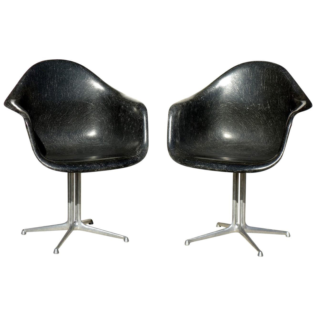 Midcentury Miller Eames Era Fiberglass Shell Chair By ...