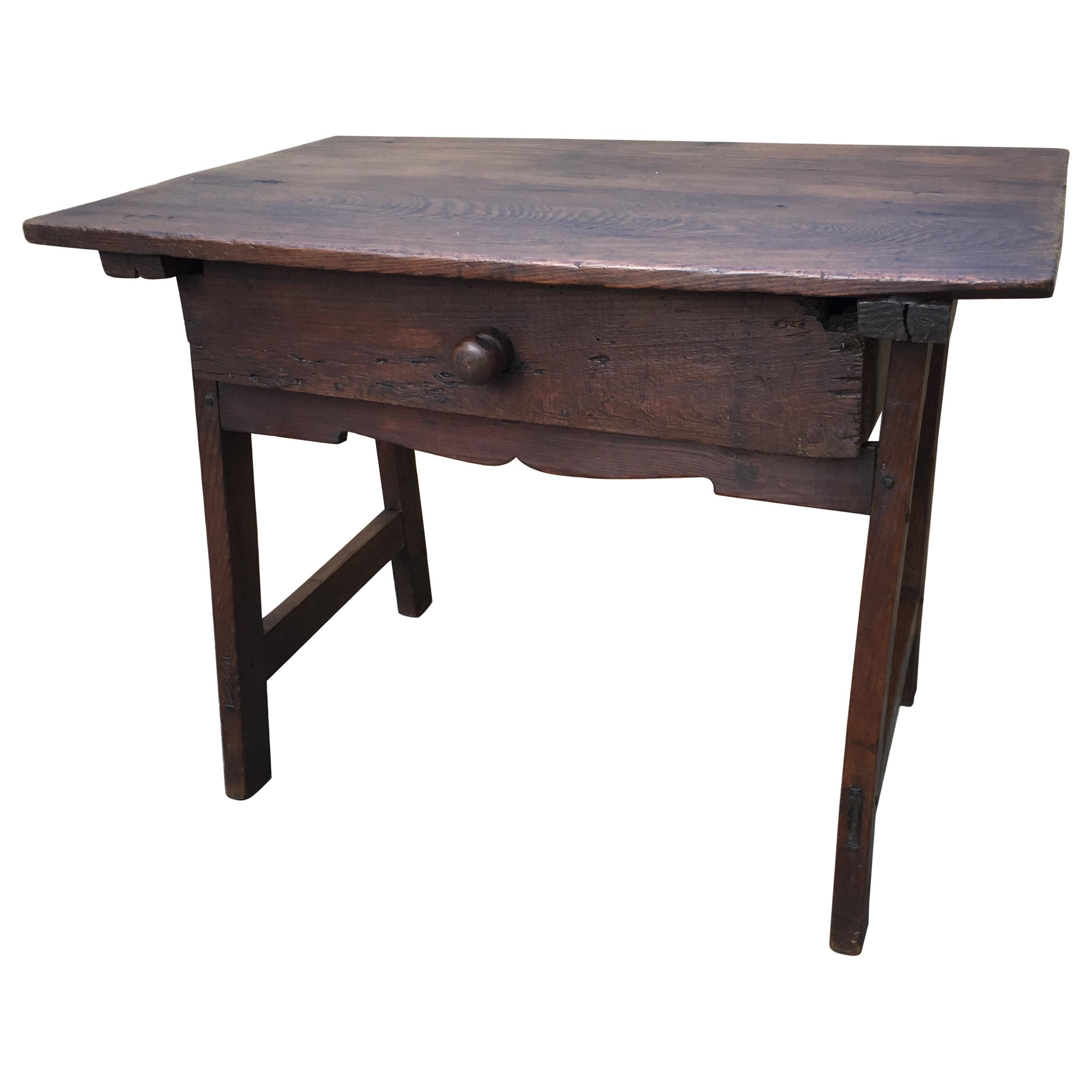 18th Century Rustic Spanish Side or Coffee Table