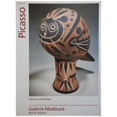 Pablo Picasso Keramik Ausstellung Poster, Galerie Madoura, Vallauris Frankreich