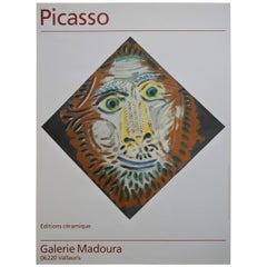 Pablo Picasso Ceramics Exhibition Poster, Galerie Madoura, Vallauris France