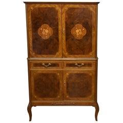 20th Century Burr Walnut Cocktail Cabinet by H&L Epstein