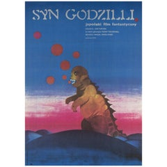 Son of Godzilla Polish Film Poster, Zuzanna Lipinska, 1974