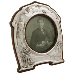 1905 Antique Edwardian Sterling Silver Photograph Frame